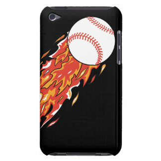 fast baseball on fire flames Case-Mate iPod touch case