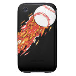 fast baseball on fire flames iPhone 3 tough case