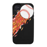 fast baseball on fire flames iPhone 4/4S case