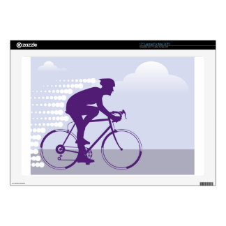 Fast Bicyclist vector Decals For Laptops