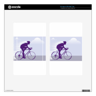 Fast Bicyclist vector Kindle Fire Decal