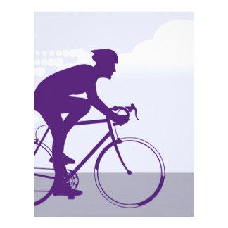 Fast Bicyclist vector Letterhead
