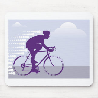 Fast Bicyclist vector Mouse Pad