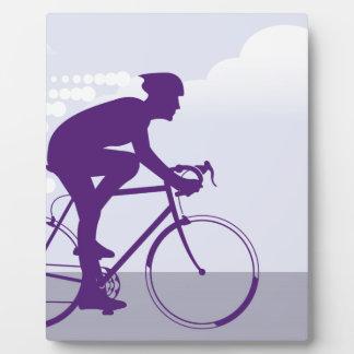 Fast Bicyclist vector Plaque