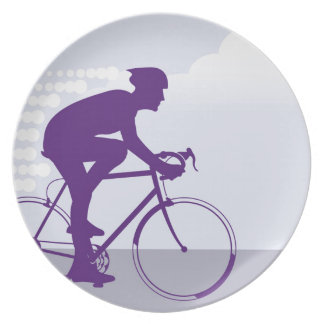 Fast Bicyclist vector Plate