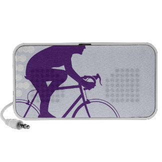 Fast Bicyclist vector Portable Speaker