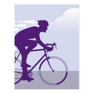 Fast Bicyclist vector Postcard
