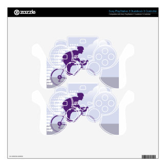 Fast Bicyclist vector PS3 Controller Skins