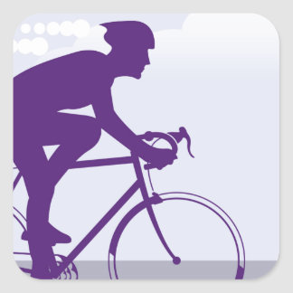 Fast Bicyclist vector Square Sticker