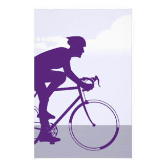 Fast Bicyclist vector Stationery