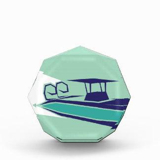 Fast boat Vector Acrylic Award