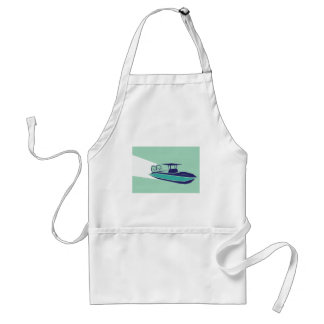 Fast boat Vector Adult Apron