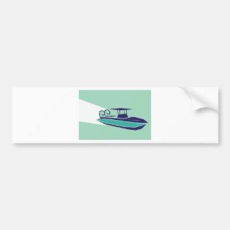Fast boat Vector Bumper Sticker