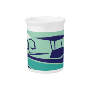 Fast boat Vector Drink Pitcher
