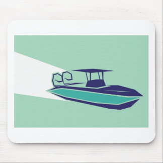 Fast boat Vector Mouse Pad