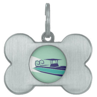 Fast boat Vector Pet ID Tag