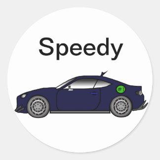 Fast Car Classic Round Sticker