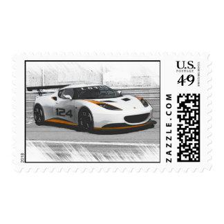 Fast car postage stamp