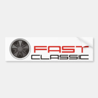 Fast classic car: Fuchs racing car wheel Bumper Sticker