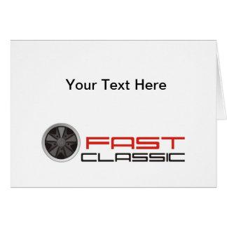 Fast classic car: Fuchs racing car wheel Greeting Card