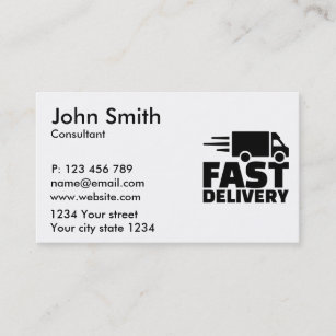 Fast delivery business cards templates zazzle fast delivery business card reheart Images