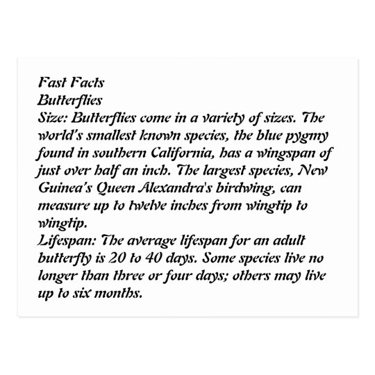 Fast Facts Postcard