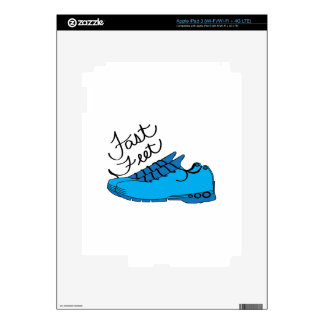 Fast Feet Decals For iPad 3