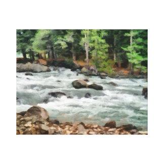 Fast flowing Lidder Canvas Print