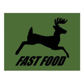Fast food buck postcard