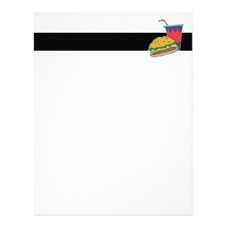 fast food burger and soft drink letterhead