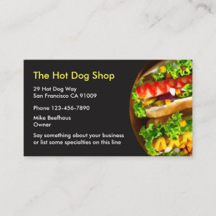 Fast food business cards templates zazzle fast food businesscards business card colourmoves