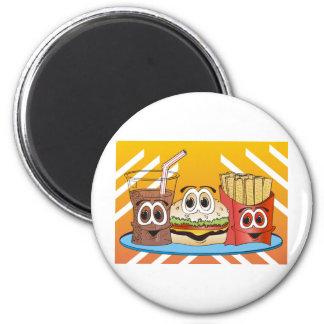 Fast Food Cartoon 2 Inch Round Magnet