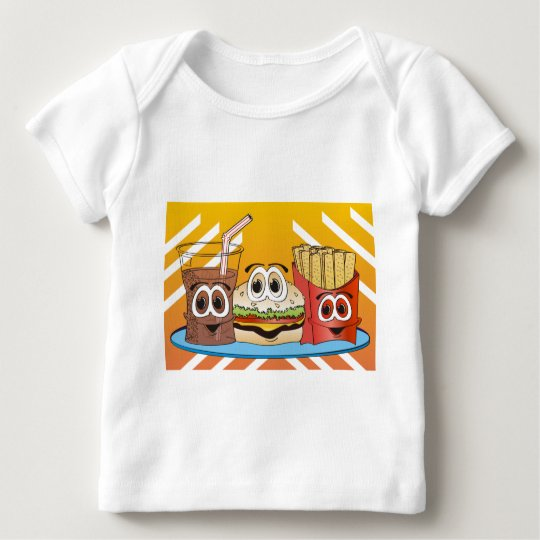 Fast Food Cartoon Baby T-Shirt