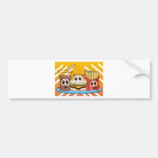 Fast Food Cartoon Bumper Sticker