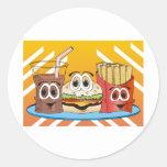 Fast Food Cartoon Classic Round Sticker
