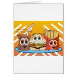 Fast Food Cartoon Greeting Card
