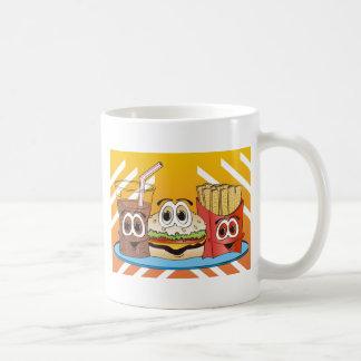 Fast Food Cartoon Coffee Mug