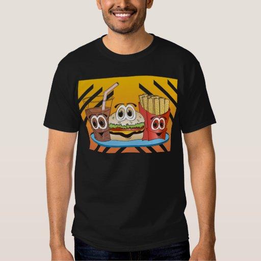 Fast Food Cartoon T-Shirt