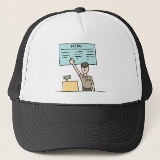 Fast Food Cashier Trucker Hat