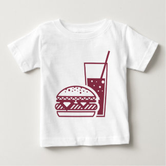 Fast Food Cheeseburger and Drink Baby T-Shirt