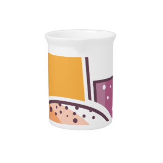 Fast Food Cheeseburger and Drink Beverage Pitcher