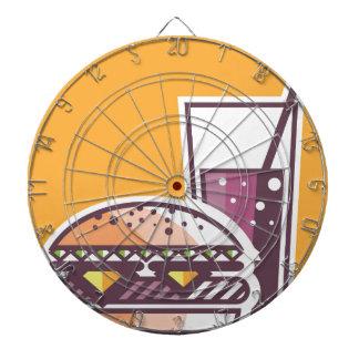 Fast Food Cheeseburger and Drink Dartboard