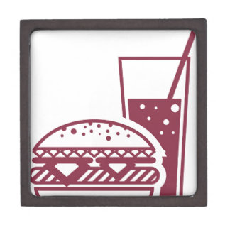 Fast Food Cheeseburger and Drink Gift Box