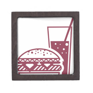Fast Food Cheeseburger and Drink Jewelry Box