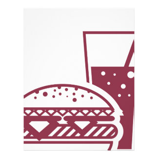 Fast Food Cheeseburger and Drink Letterhead