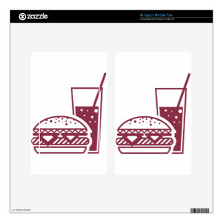 Fast Food Cheeseburger and Drink Skins For Kindle Fire