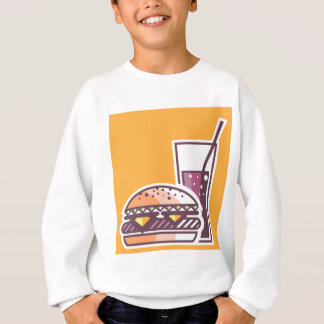 Fast Food Cheeseburger and Drink Sweatshirt