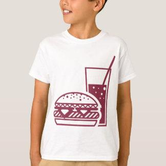 Fast Food Cheeseburger and Drink T-Shirt