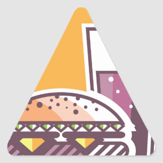 Fast Food Cheeseburger and Drink Triangle Sticker