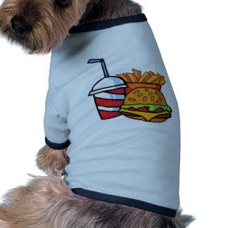 Fast Food Cheeseburger Doggie T Shirt
